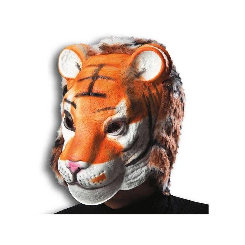 Masque de tigre avec fourrure Accessoires de fête 1013
