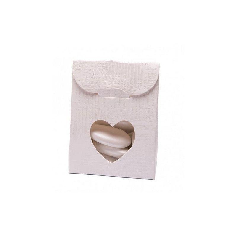 Sachet en carton blanc pour dragées x 10 Déco festive 1015055