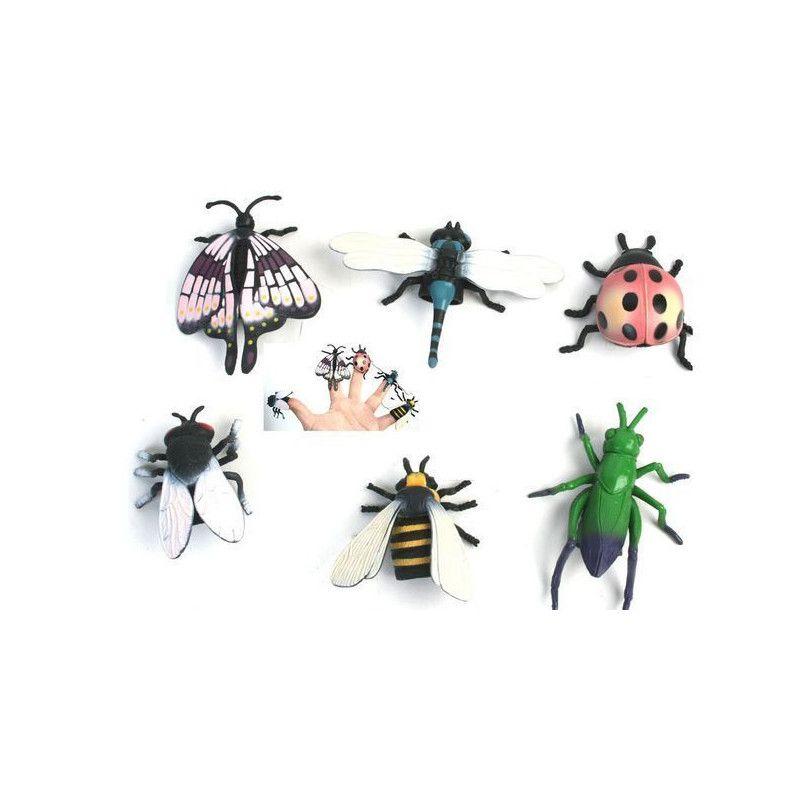 Jouets et kermesse, Marionnette insecte 5 cm pour le doigt vendue par 48, 10150-LOT, 0,30€