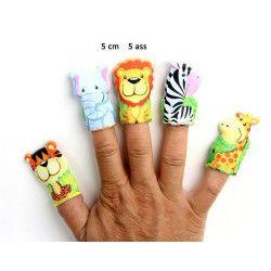 Marionnette à doigt animal du zoo 5 cm vendue par 48 Jouets et kermesse 10204-LOT