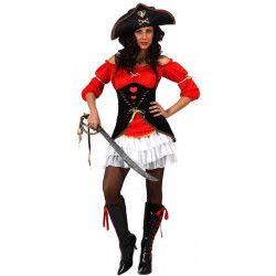 Déguisement capitaine pirate femme taille M-L Déguisements 10233