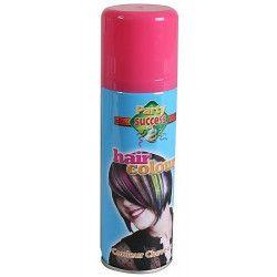Bombe cheveux roses 125 ml Accessoires de fête 102361