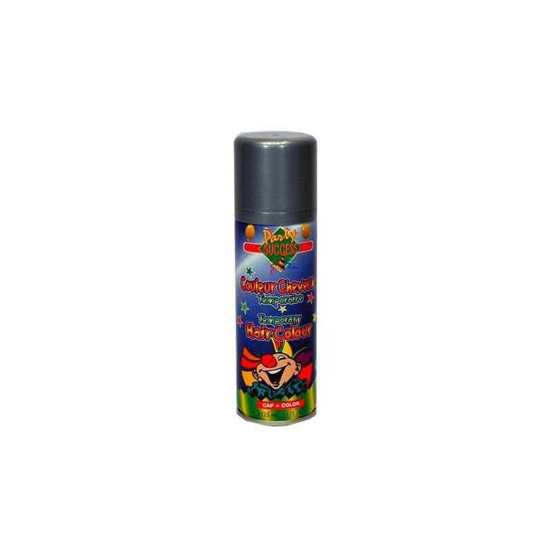 Bombe cheveux argent 125 ml Accessoires de fête 102365