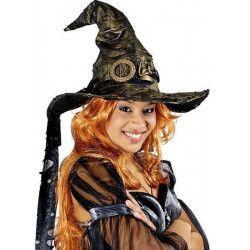 Chapeau de sorcière or métallisé Accessoires de fête 10250015