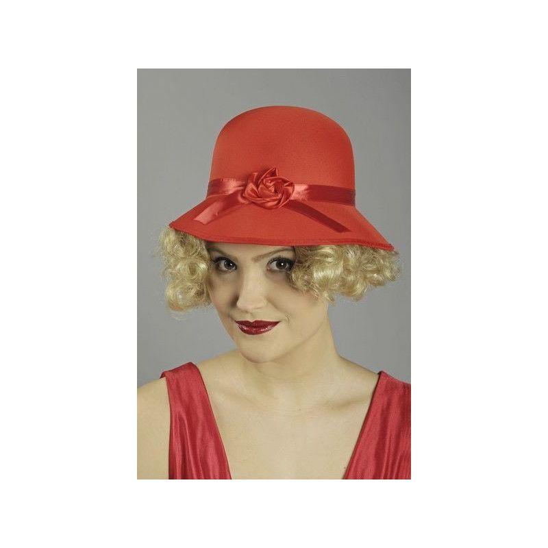 Accessoires de fête, Chapeau rouge dame années folles, 10250722, 11,50€