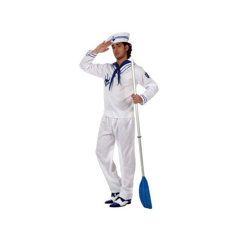 Déguisement marin blanc homme taille M-L Déguisements 10258