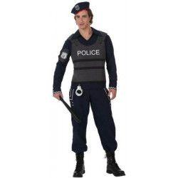 Déguisement policier avec gilet pare-balles homme Déguisements 10280