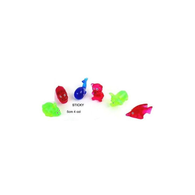 Animal sticky 5 cm kermesse vendu par 48 Jouets et kermesse 10341-LOT