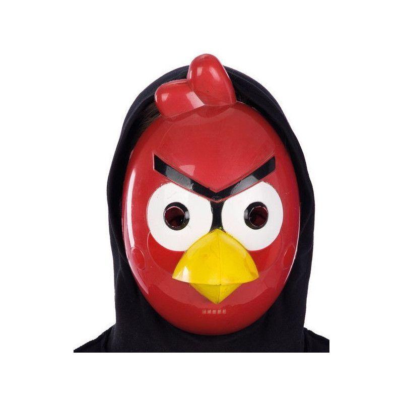 Accessoires de fête, Masque plastique oiseau rouge, 1037, 3,90€