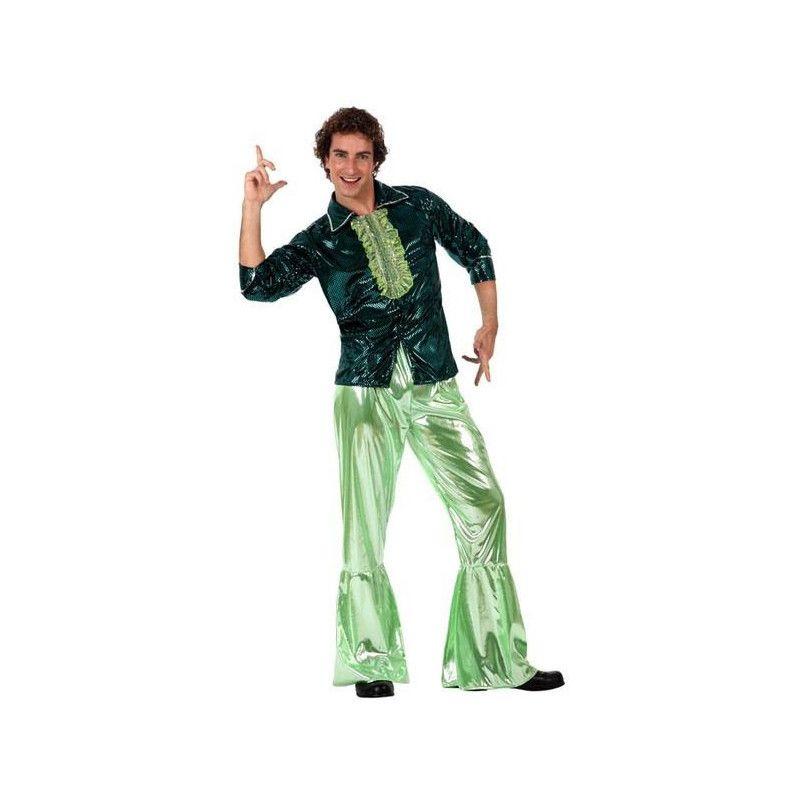 Déguisements, Déguisement disco vert homme M/L, 10388, 24,90€