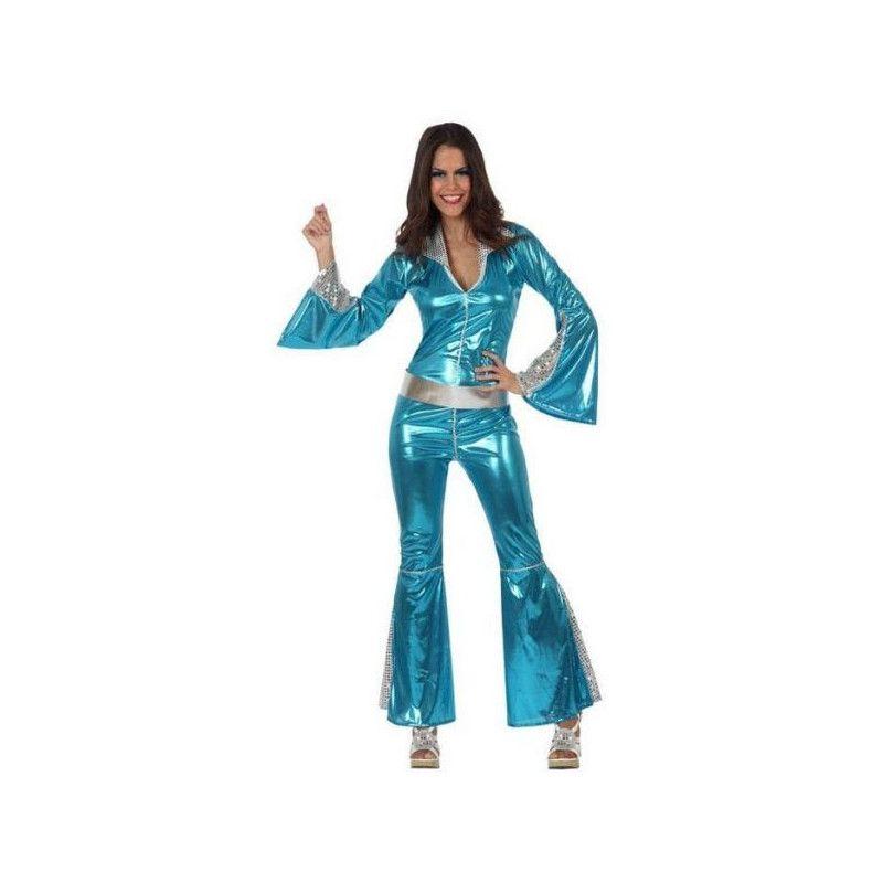 Déguisement disco bleu femme taille M-L Déguisements 10392