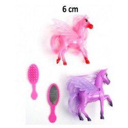 Animal poney 6 cm x 2 avec ailes et accessoires Jouets et kermesse 10402BG