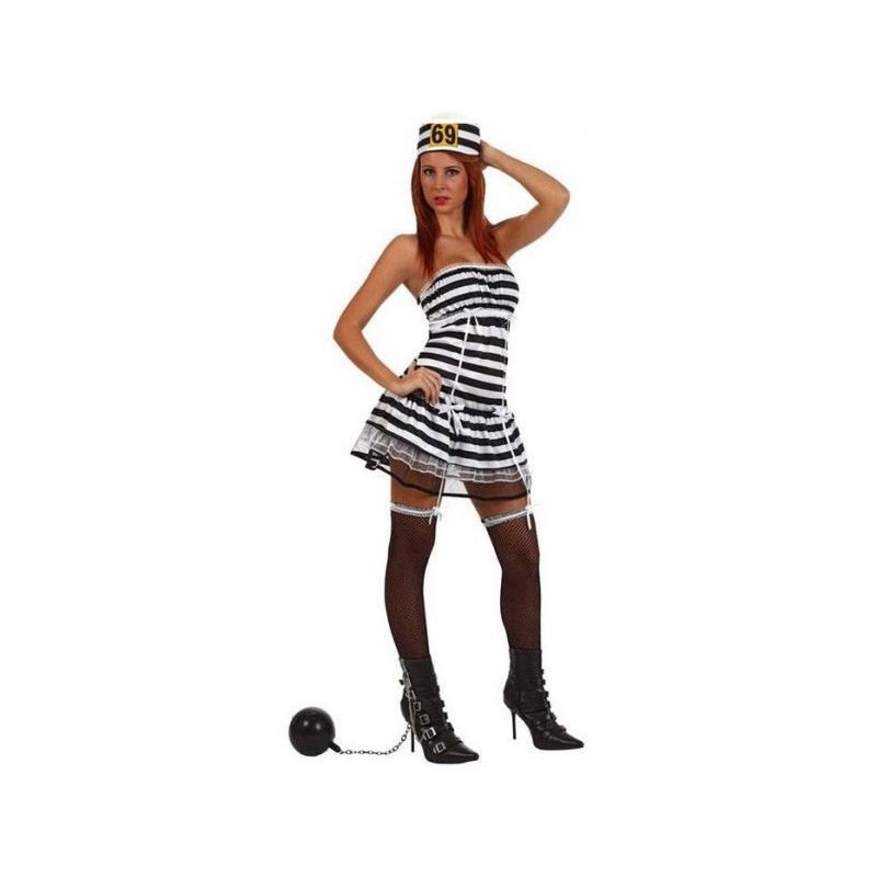 Déguisement prisonnière sexy avec shorty femme taille S Déguisements 10430