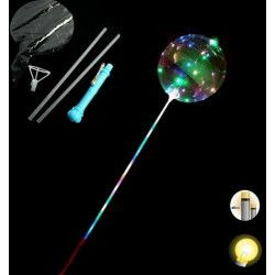 Ballon lumineux 120 cm avec guirlande à poser sur son bâton Jouets et kermesse 16190