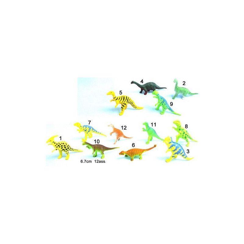 Jouets et kermesse, Animal dino 6 à 7 cm vendu par 48, 10563-LOT, 0,20€