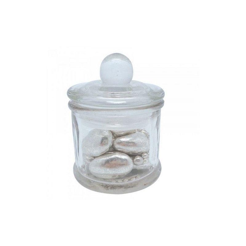 Pot droit en verre avec couvercle pour dragées Cake Design 16233
