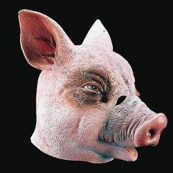 Masque intégral de cochon en latex adulte Accessoires de fête 1089