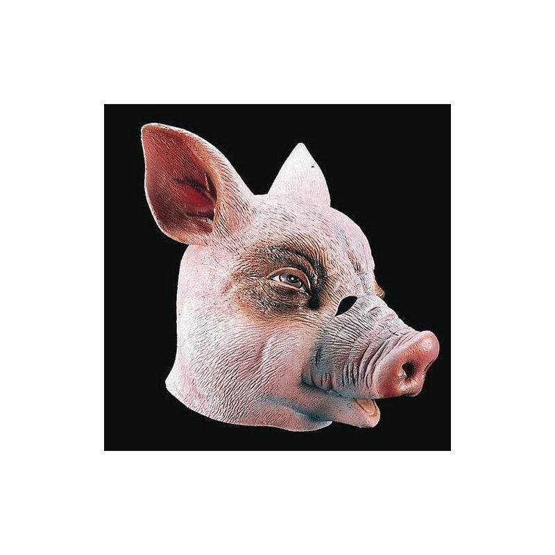 Accessoires de fête, Masque intégral de cochon en latex adulte, 1089, 19,90€