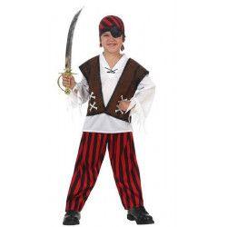 Déguisements, Déguisement capitaine pirate enfant 7-9 ans, 10913, 25,90€