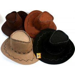Chapeau cowboy façon nubuck Accessoires de fête 16305