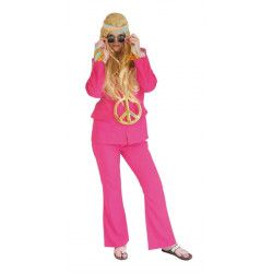 Déguisement luxe pantalon et veste rose pâle femme Déguisements 66654