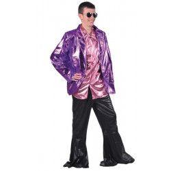 Veste luxe disco violette homme Déguisements 16663