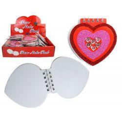 Carnet coeur papeterie vendu par 48 Jouets et kermesse 38697-LOT