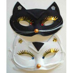 Loup chat avec moustaches Accessoires de fête 318015