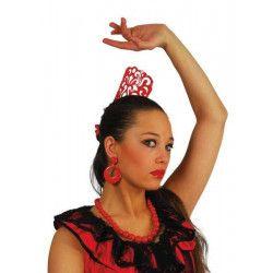 Peigne espagnol rouge Accessoires de fête 16329