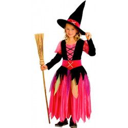 Déguisements, Costume sorcière noire et rose fille, 88913, 19,90€