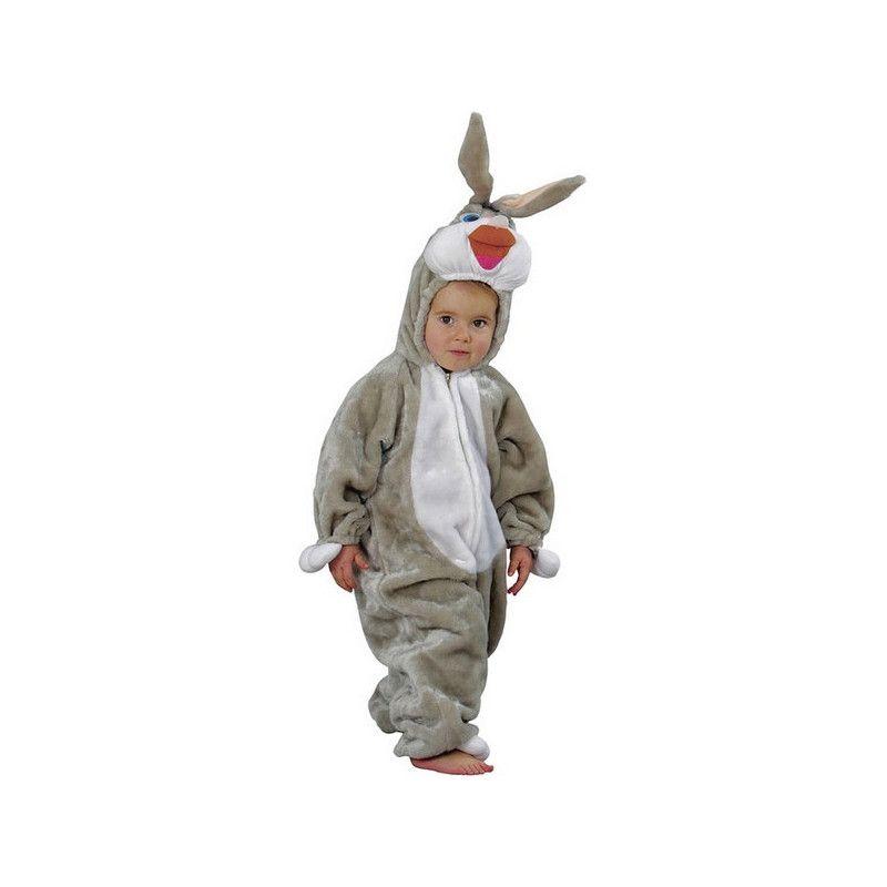 Déguisements, Déguisement lapin peluche enfant 4 ans, C1007116, 29,90€