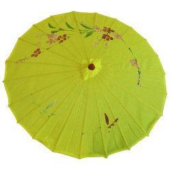 Ombrelle chinoise tissu décoré Accessoires de fête AC2702