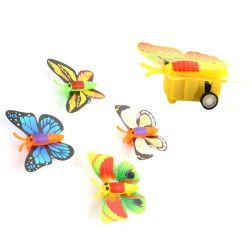 Papillon rétro friction kermesse vendu par 24 Jouets et kermesse 11829-LOT