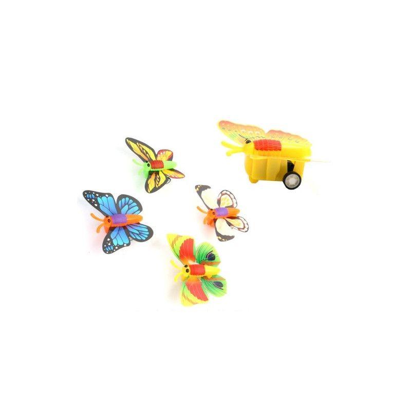 Papillon rétro friction kermesse vendu par 24 Jouets et articles kermesse 11829-LOT
