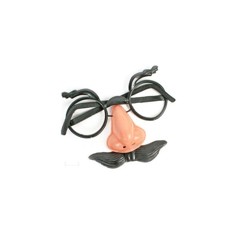 Lunette faux nez et moustache vendue par 48 Accessoires de fête 12406-LOT