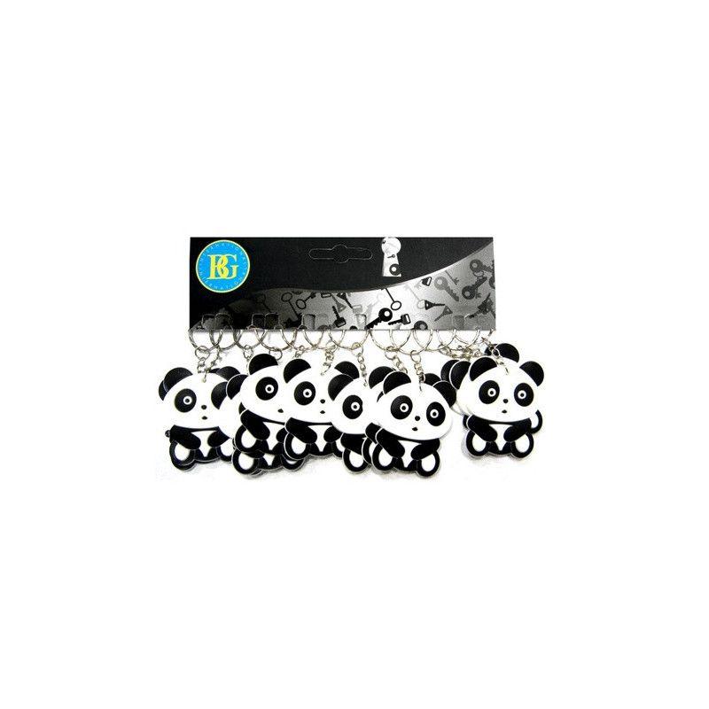 Lot 12 porte-clés panda 5.5 cm Jouets et articles kermesse 18170-LOT