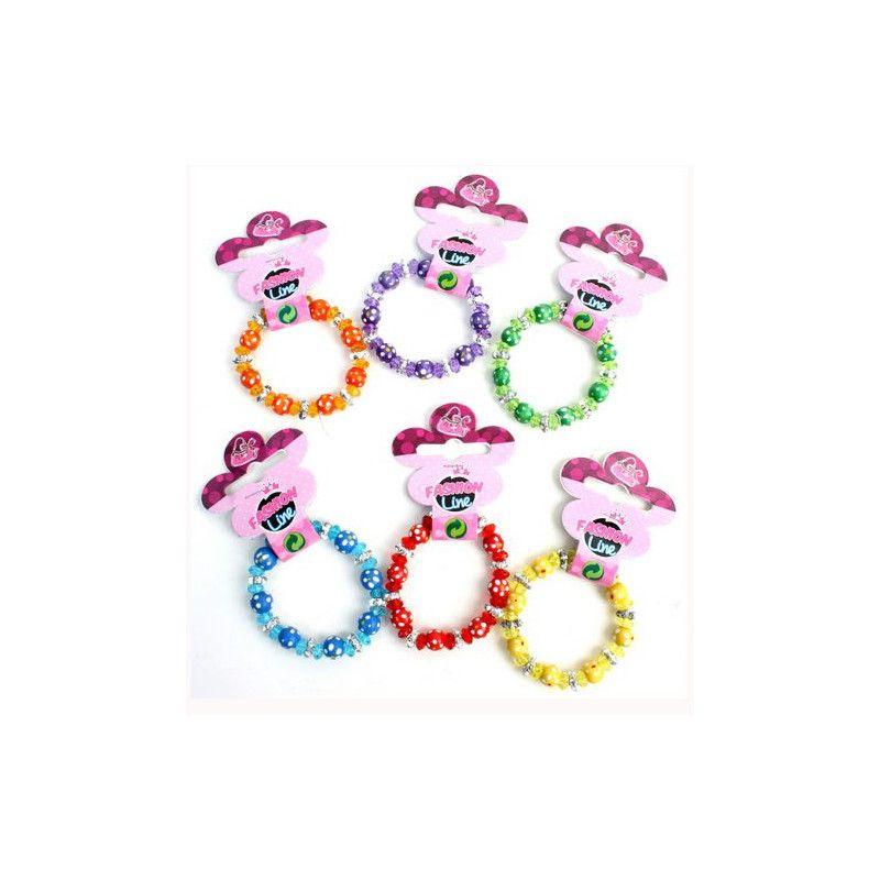 Bracelet perles colorées kermesse vendu par 48 Jouets et articles kermesse 32312-LOT