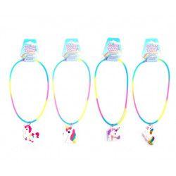 Bijou collier silicone licorne vendu par 36 Jouets et articles kermesse 32596-LOT
