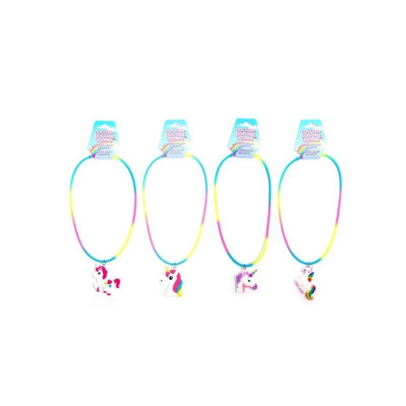 Bijou collier silicone licorne vendu par 36 Jouets et kermesse 32596-LOT