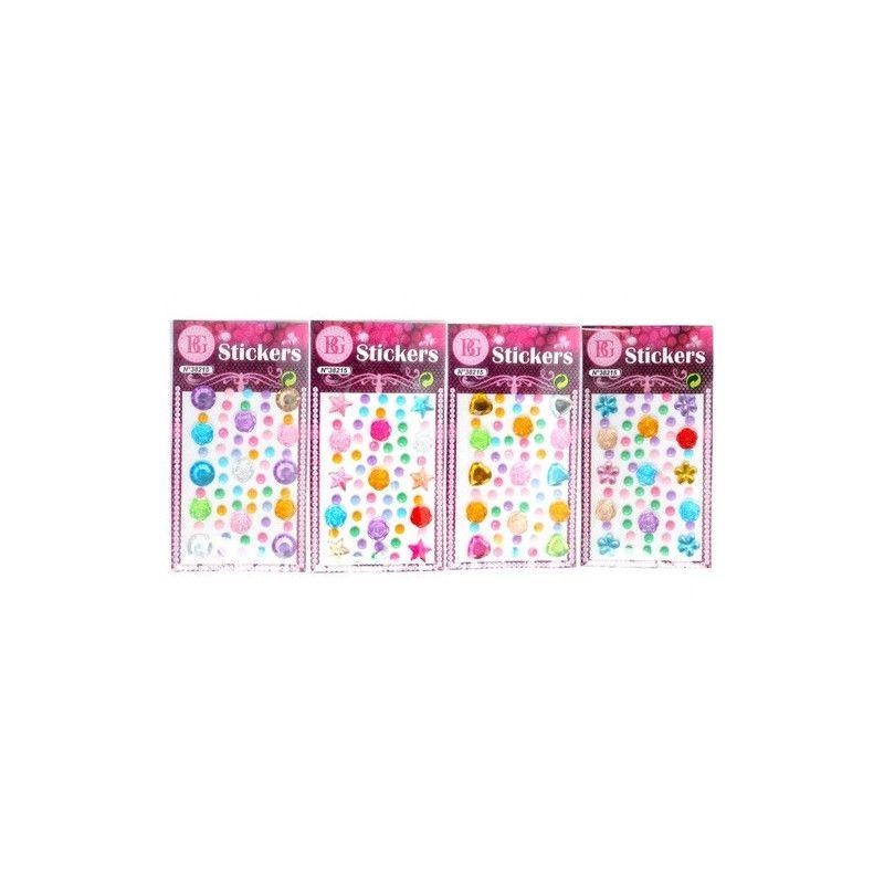 Sticker pierres colorées 3D vendu par 48 Jouets et kermesse 38215-LOT