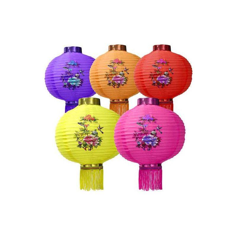 Lanterne chinoise décorée 20 cm Déco festive GU48397