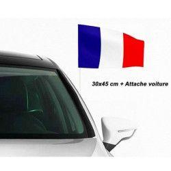 Drapeau de fête français avec accroche voiture Déco festive 62173