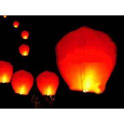 Lanterne céleste thaïlandaise rouge Déco festive LP4589