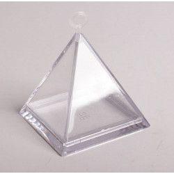 Déco festive, Lot de 3 Boites pyramide transparente pour dragées, 92288, 3,90€