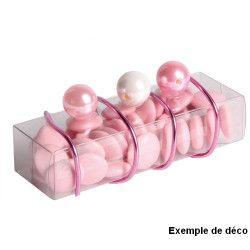 Contenant de 50 perles rose diamètre 1.4 cm Déco festive 13872