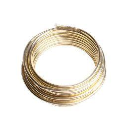 Fil de fer déco or à modeler 3 m Déco festive 71860