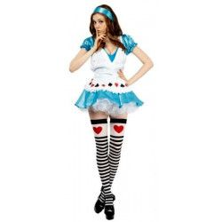 Déguisements, Costume Alice poker sexy femme, 89116, 29,90 €