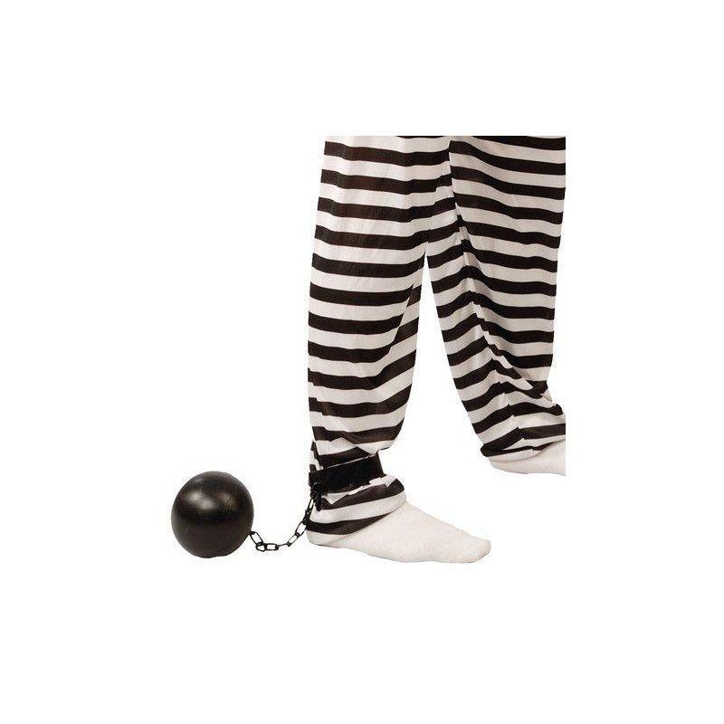 Boulet noir de bagnard Accessoires de fête 16458