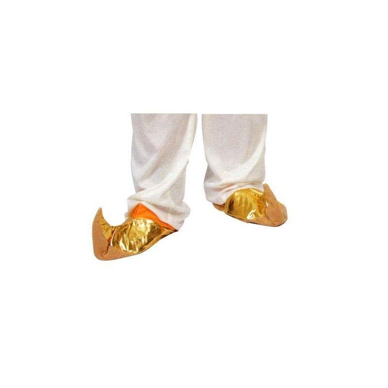 Babouches dorées adulte Accessoires de fête 16472