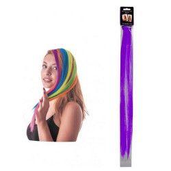 Mèche de cheveux violet néon à clipser Accessoires de fête 86243
